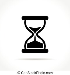 hourglass icon on white background