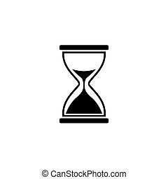 Illustration of hourglass icon on white background.