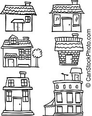 Illustration of house hand draw