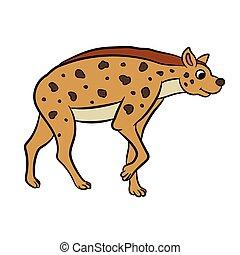 Illustration of hyena standing