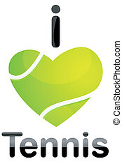 illustration of i love tennis