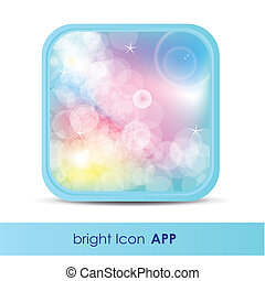 illustration of icon for application