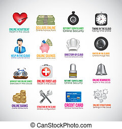 app icons - Illustration of icons of applications in the...