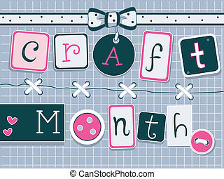 Illustration of Icons Representing Craft Month