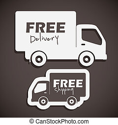 free delivery - illustration of icons shipments and free ...