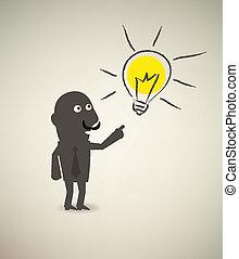 illustration of idea bulb