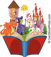 Imagination in a children fairy tail fantasy book -...
