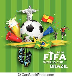illustration of in FIFA World Cup background