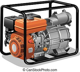 immovable power generator - illustration of industrial and...