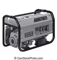 power generator - illustration of industrial power generator...