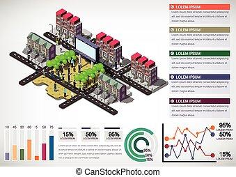 illustration of info graphic urban city concept