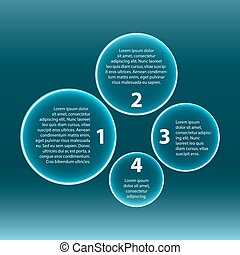 Infographic Four circles