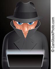 Informatic spy - Illustration of  Informatic spy