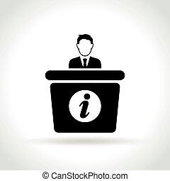 information desk icon on white background