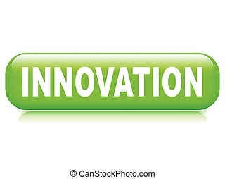 innovation button on white background