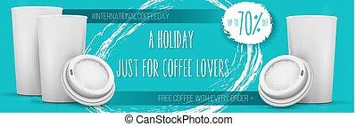 International Coffee Day Banner Template