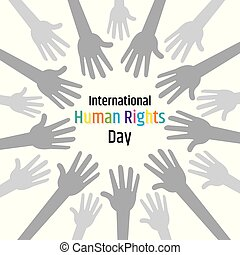 illustration of International Human Rights Day. - Vector...