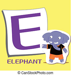 animal alphabet E