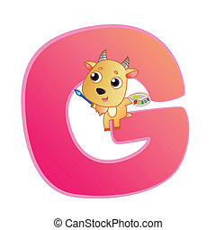 animal alphabet G