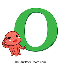 animal alphabet O