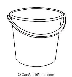 Illustration of Isolated Cartoon Bucket. Vector EPS 8.