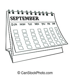 Illustration of Isolated Cartoon Calender. Vector EPS 8.