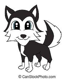 Illustration of Isolated Cartoon Cute Dog. Vector EPS 8.