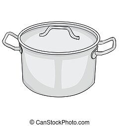 Illustration of Isolated Cartoon Pot. Vector EPS8