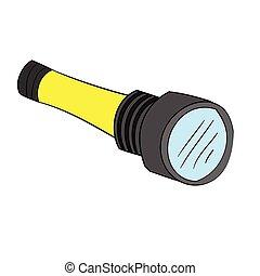 Illustration of Isolated Cartoon Torch Light. Vector EPS 8.