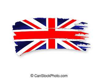 British flag - Illustration of Isolated hand drawn British...