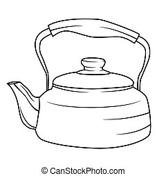 Illustration of Isolated Kettle Cartoon Drawing
