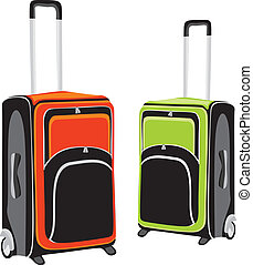 illustration of isolated luggage