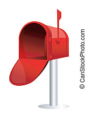 illustration of isolated mail box