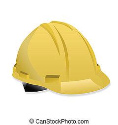illustration of isolated yellow helmet on white background