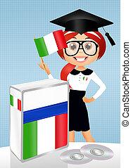 italian course - illustration of italian course