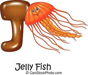 Illustration of J Letter for Jelly