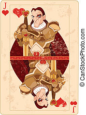Illustration of Jack of hearts card