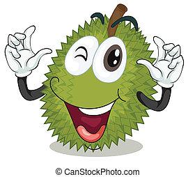 jackfruit - illustration of jackfruit on a white background