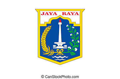 Jakarta city flag