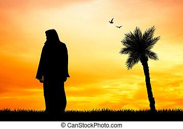 Jesus silhouette - illustration of Jesus silhouette