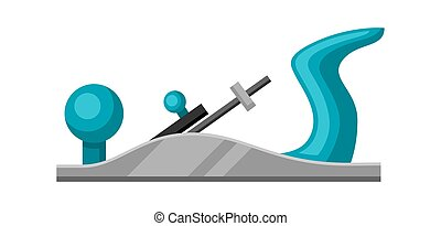 Illustration of jointer on white background isolated