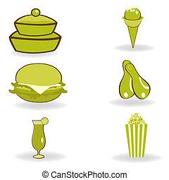 junk food - illustration of junk food