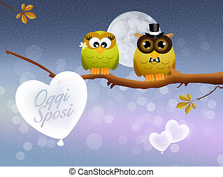 Just Married - illustration of Just Married