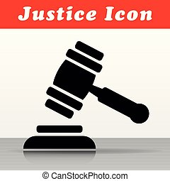 justice hammer vector icon design