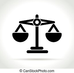 justice icon on white background