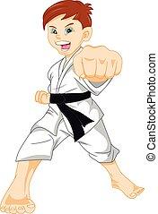 karate boy - Illustration of karate boy