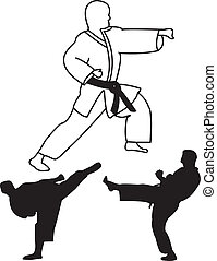 karate player - vector - illustration of karate player -...