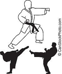 karate player - vector