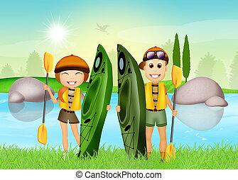 kayak experience - Illustration of kayak experience