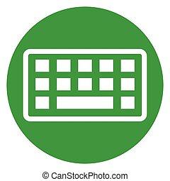 keyboard circle green icon